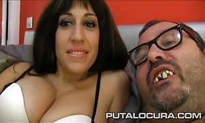 PUTA LOCURA stunning French stunner pounded by a fat man