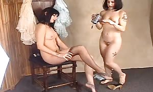 astounding HLS Photogravure audition with two undressed rookies