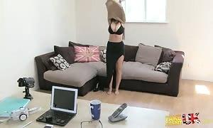 attractive vast boobed hottie is explaining her huge fun bags for agent