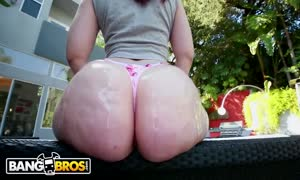 BANGBROS - tiny red head PAWG Lily Sincere will get Her giant rump banged