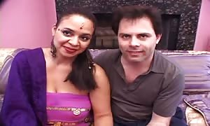 Lester shows Us How He drills His big-boobed hairy Indian girl-friend