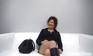 steamy mature mommy I would desire to fuck being ripped up in her face at the Czech tryout