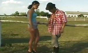 German Farmer Sex Lesson outside