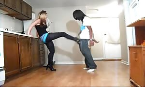 Ballbusting - youngster Alternating Kicks & Knees to the Balls
